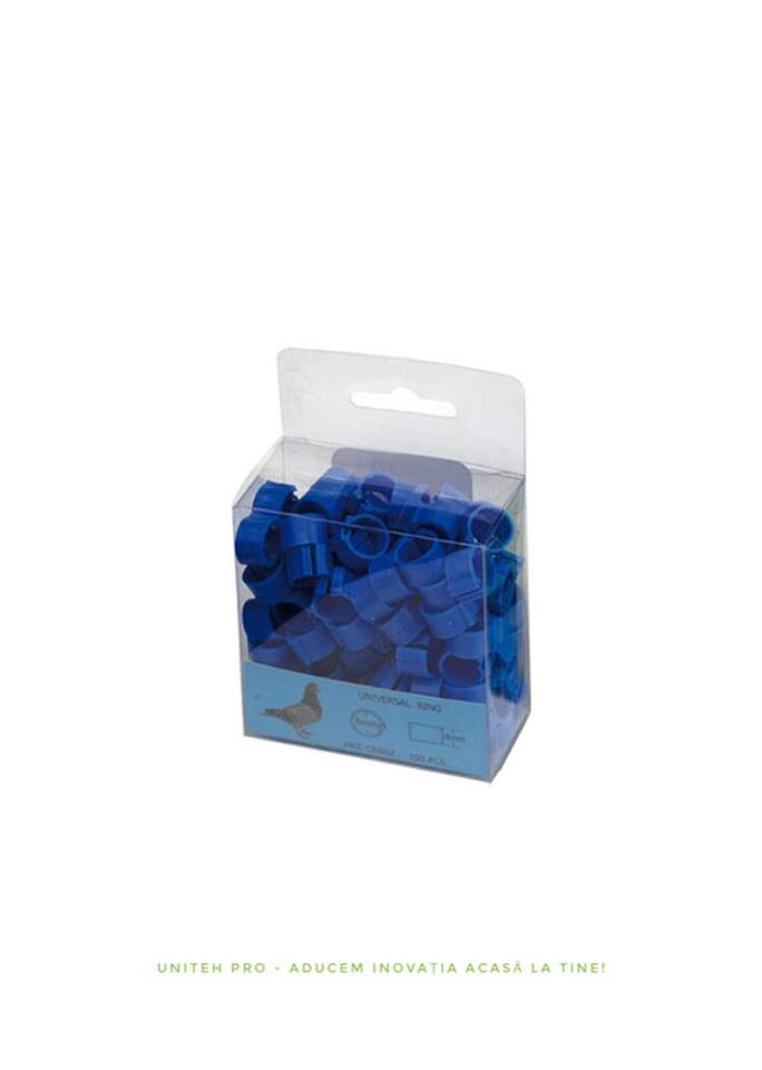 Inele porumbei 8mm albastre Uniteh
