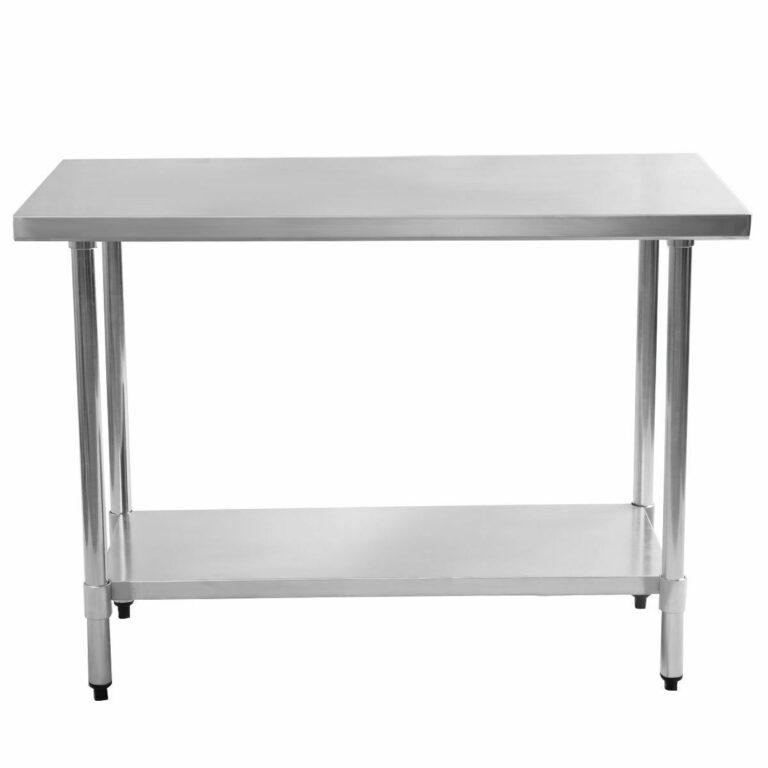 masă din inox 800*600*850 cu polita