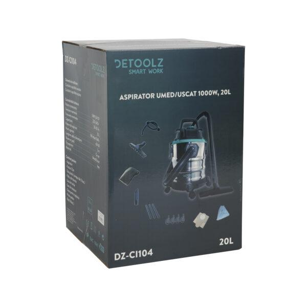 Aspirator uscat/umed DETOOLZ 1000W 20L
