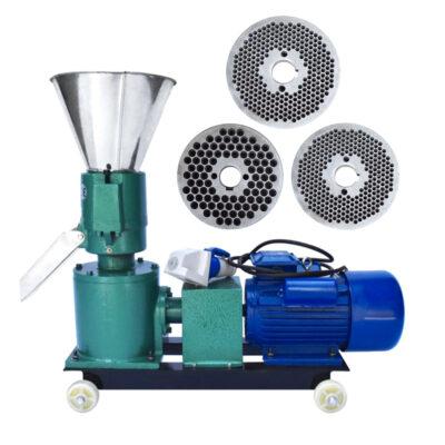 Granulator furaje KL-120, motor inclus, 3 matrite incluse